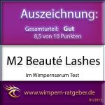 M2 Lashes Wimpernserum Gütesiegel