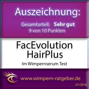 FacEvolution HairPlus Wimpernserum Gütesiegel