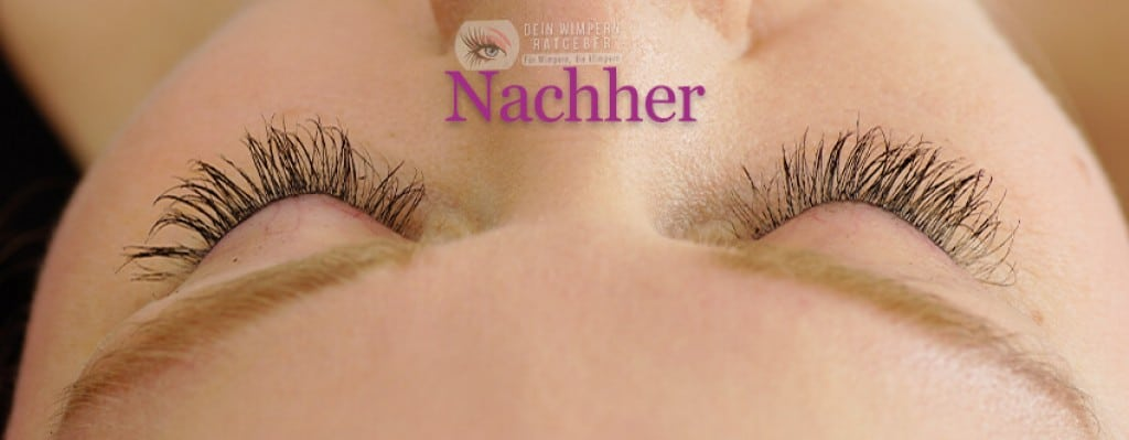 Develle Quick Eye Lash nachher