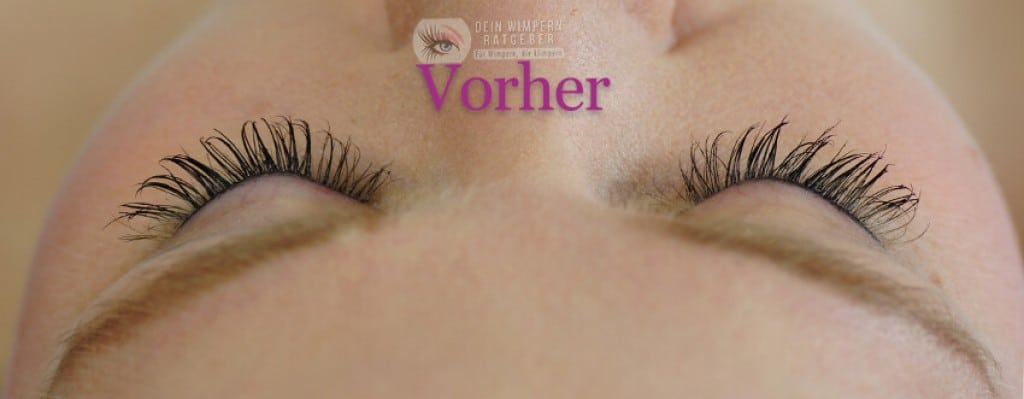 Develle Quick Eye Lash vorher