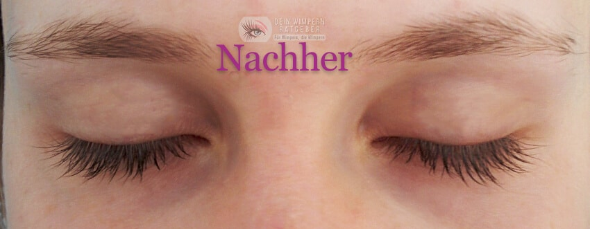 Develle Sensitiv Eye Lash_nachher