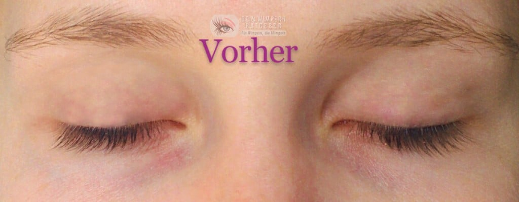 Develle Sensitiv Eye Lash_vorher