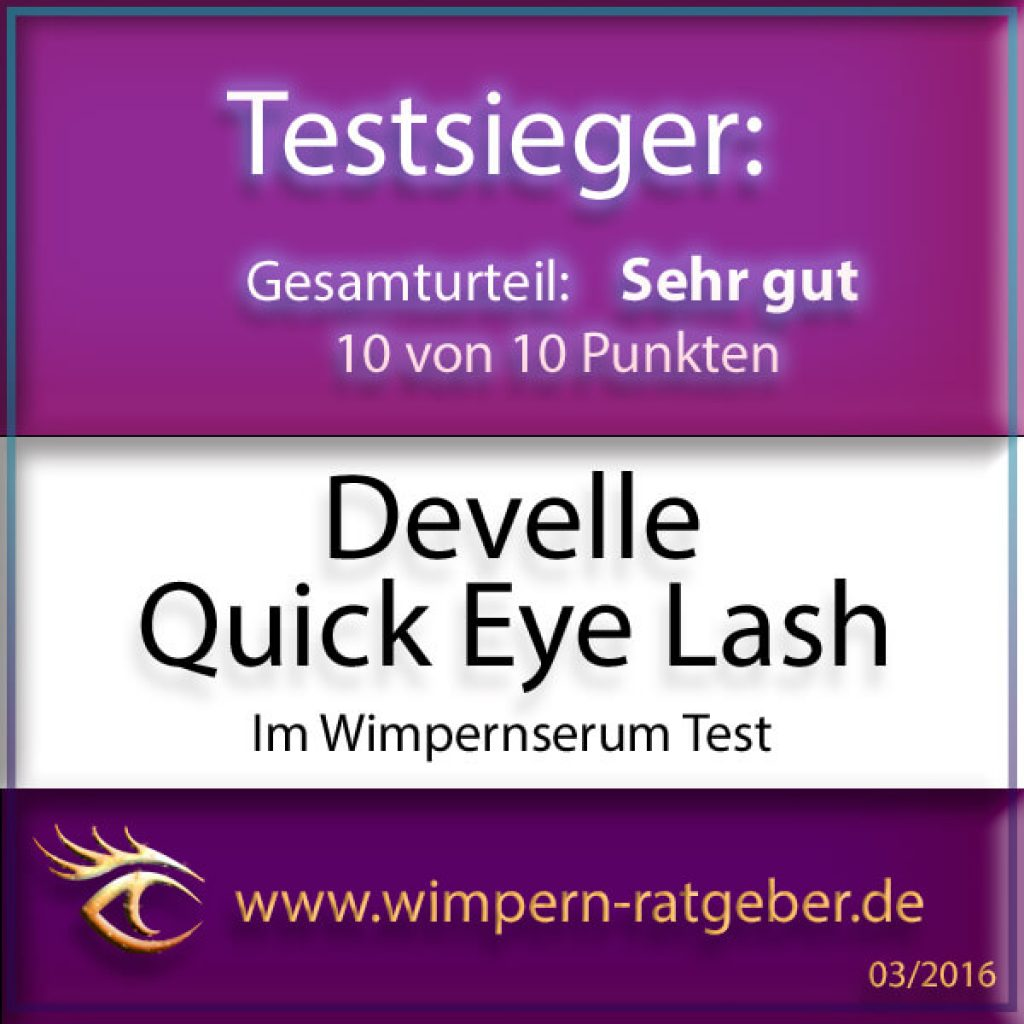 Quick Eye Lash Wimpernserum Gütesiegel