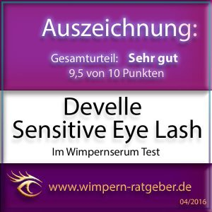 Sensitive Eye Lash Testsiegel